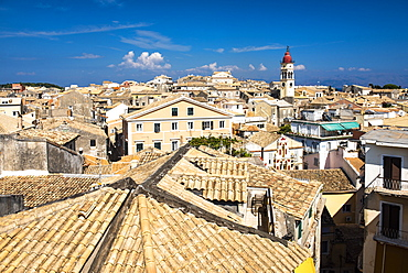 Cityscape of Corfu's old town in Greece, Europe