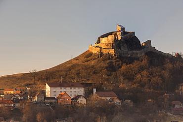 Hill top church near Viscri, UNESCO World Heritage Site, Transylvania, Romania, Europe