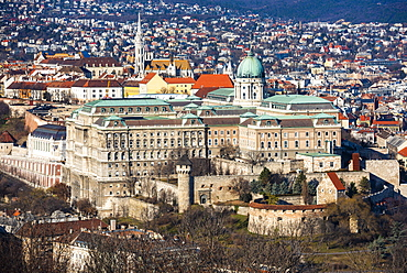 View from Gellert Hill, Budapest, Hungary, Europe