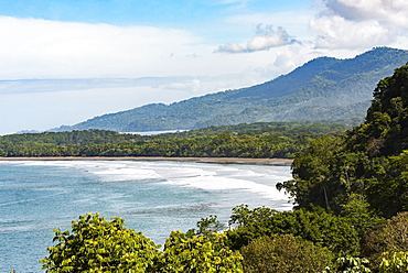Uvita Beach, Marino Ballena National Park (Whale Tail National Park), Puntarenas Province, Pacific Coast of Costa Rica, Central America