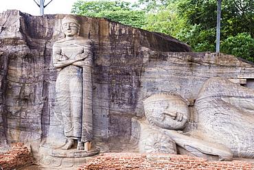 Buddha statues, Gal Vihara Rock Temple, Polonnaruwa, UNESCO World Heritage Site, Sri Lanka, Asia
