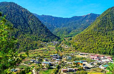 High vantage point, Haa Village, Bhutan.