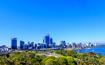 View from Kings Park over Perth City, Western Australia, Australia, Pacific