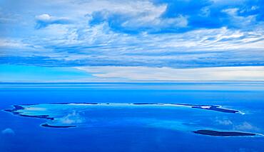 Aerial view, Cocos Keeling Islands.