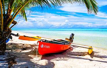 Canoes, Scout Park Beach, Cocos Keeling Islands.