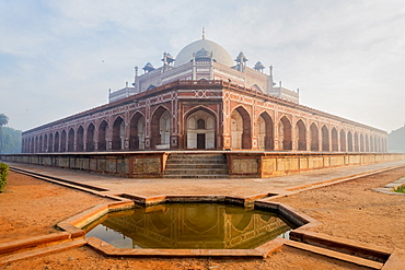 Pond by Humayun's Tomb in Delhi, India, Asia