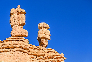 Hoodoo rock formations along scenic byway 12, Bryce Canyon National Park, Utah, United States of America, North America