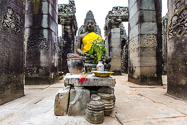 Shrine in Bayon Temple in Angkor Thom, Angkor, UNESCO World Heritage Site, Siem Reap Province, Cambodia, Indochina, Southeast Asia, Asia