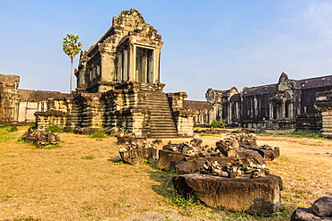 Inner raised terrace at Angkor Wat, Angkor, UNESCO World Heritage Site, Siem Reap Province, Cambodia, Indochina, Southeast Asia, Asia