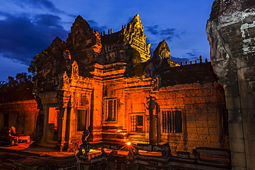 Banteay Samre Temple at night, Angkor, UNESCO World Heritage Site, Siem Reap Province, Cambodia, Indochina, Southeast Asia, Asia