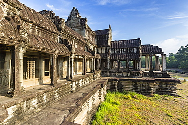 Raised terrace at Angkor Wat, Angkor, UNESCO World Heritage Site, Siem Reap Province, Cambodia, Indochina, Southeast Asia, Asia