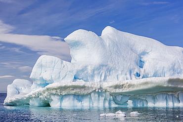 Clouds forming over glacial iceberg at Devil Island, Weddell Sea, Antarctica, Polar Regions