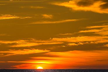 Sunrise near Los Islotes, The Islets, Baja California Sur, Mexico, North America