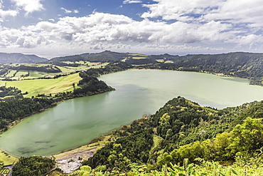 Furnas Valley, a site of bubbling hot springs and fumaroles on the Azorean capital island of Sao Miguel, Azores, Portugal, Europe
