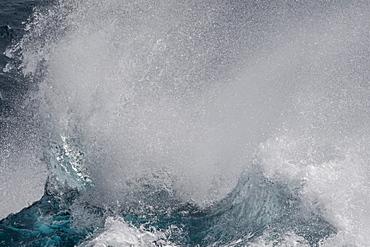 High seas breaking in English Strait, South Shetland Islands, Antarctica, Polar Regions