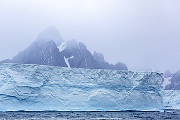 Huge tabular icebergs broken off from B-17A Iceberg near Cooper Bay, South Georgia, UK Overseas Protectorate, Polar Regions