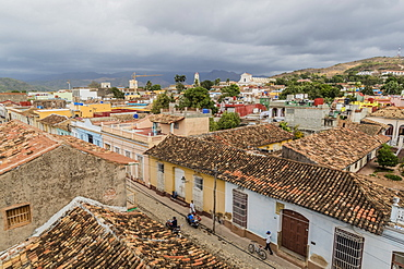A view of the Plaza Mayor, Trinidad, UNESCO World Heritage Site, Cuba, West Indies, Caribbean, Central America