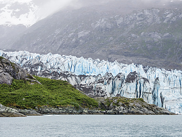 Lamplugh Glacier, a tidewater glacier in Glacier Bay National Park and Preserve, Southeast Alaska, United States of America, North America