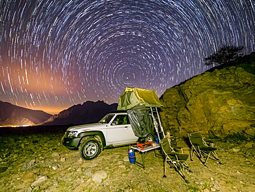 Camping out under the stars in the Sultanate of Oman, Middle East