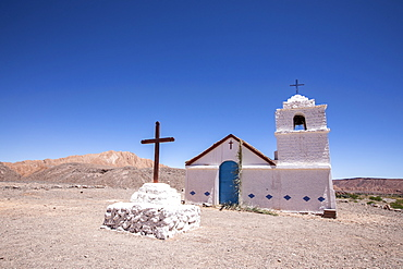 The small Capilla de San Isidro, Catarpe, Antofagasta Region, Chile, South America