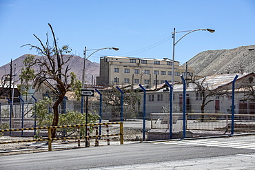 The abandoned company mine workers village in Chuquicamata open pit copper mine, Atacama Desert, Chile, South America