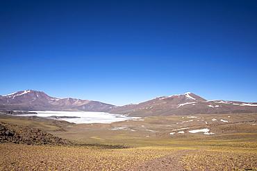 The huge salt flat in Salar de Capur, Antofagasta Region, Chile, South America