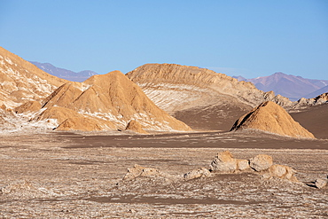 The amphitheater in Valle de le Luna, Los Flamencos National Reserve, Antofagasta Region, Chile, South America