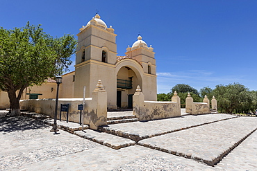 Exterior view of the 17th century Jesuit church Iglesia San Pedro Nolasco de los Molinos, Salta Province, Argentina, South America