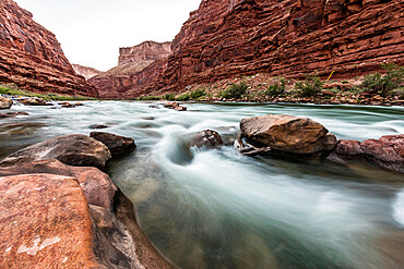 Rapids on the Colorado River, Marble Canyon, Grand Canyon National Park, Arizona, USA.
