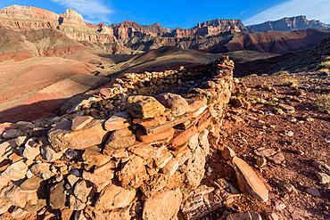 Ancestral Puebloan ruin at Desert View on the Colorado River, Grand Canyon National Park, Arizona, USA.