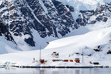 The Argentine Research Station Almirante Brown, located in Paradise Harbor, Antarctica, Polar Regions