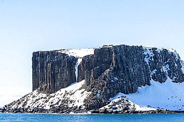 Basalt cliffs in English Strait in the South Shetland Islands, Antarctica, Polar Regions