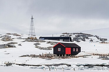 Former British Base A, now a museum and post office at Port Lockroy on tiny Goudier Island, Antarctica, Polar Regions