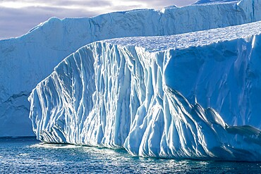 Massive icebergs calved from the Jakobshavn Isbrae glacier, UNESCO World Heritage Site, Ilulissat, Greenland, Polar Regions
