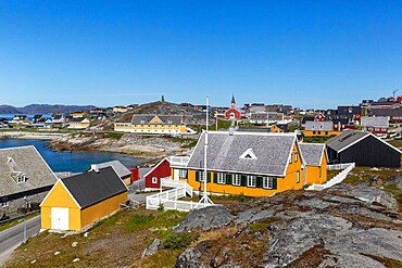 Nuuk (Godthab), the Capital and the largest city in Greenland, on the southwestern coast, Greenland, Polar Regions