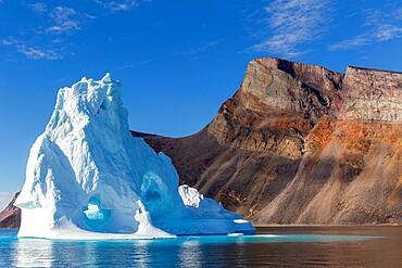 Iceberg in Holms O, Baffin Bay, on the northwest coast of Greenland, Polar Regions