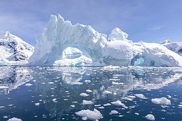 Detail of an iceberg in Paradise Bay, Antarctica.