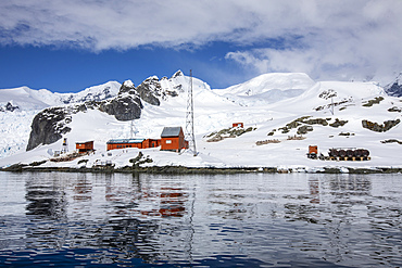 The Argentine Research Station Base Brown, Paradise Bay, Antarctica.