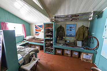 Interior view of Port Lockroy, established as Station A in WWII Operation Tabarin, Goudier Island, Antarctica.