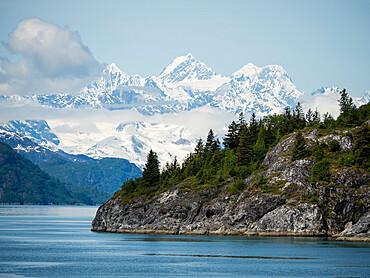 The Fairweather mountain range in Glacier Bay National Park, Southeast Alaska, United States of America.