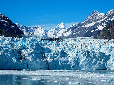 Margerie Glacier in Glacier Bay National Park, Southeast Alaska, United States of America.
