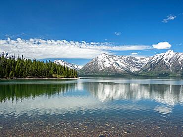Colter Lake in Grand Teton National Park, Wyoming, USA.