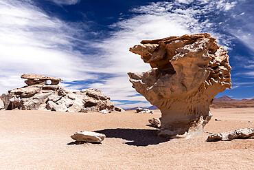 Rock formations, Reserva Nacional de Fauna Andina Eduardo Avaroa, Potosí Department, southwestern Bolivia.