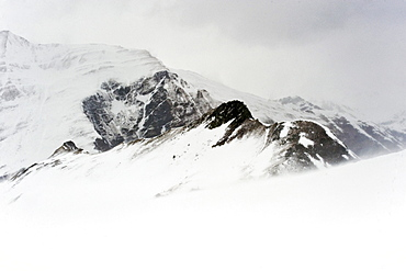 Snow-covered mountains, Hintertux, Tyrol, Austria