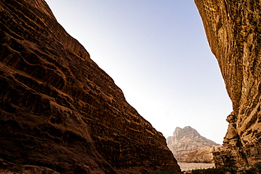 Rock formation, Wadi Rum, Jordan, Middle East