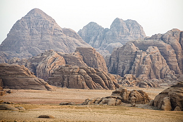 Rock fromations, Wadi Rum, Jordan, Middle East