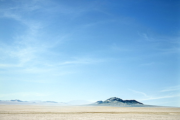 Desert and mountain with blue sky near Luderitz, Namibia, Africa