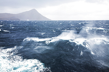 Rough sea at Cape Horn, Cape Horn National Park, Cape Horn Island, Terra del Fuego, Chile, South America