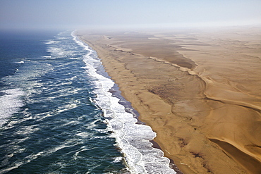 Aerial shot of the skeleton coast, Namibia