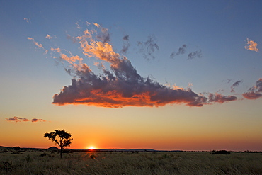 cloud illuminated by the sunset, Namibia